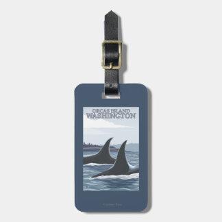 Orca Whales #1 - Orcas Island, Washington Bag Tag