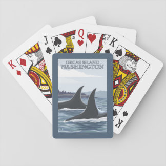 Orca Whales #1 - Orcas Island, Washington Poker Deck
