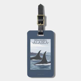 Orca Whales #1 - Wrangell, Alaska Luggage Tag