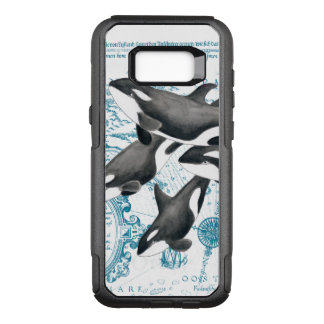 Orca whales family ancient blue OtterBox commuter samsung galaxy s8+ case