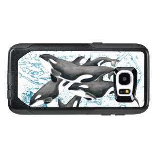 Orca whales family ancient blue OtterBox samsung galaxy s7 edge case