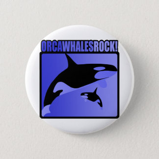 Orca Whales Rock! 2 Inch Round Button