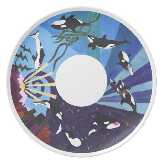 Orcas Ascending Plate