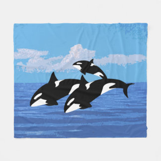 Orcas Fleece Blanket