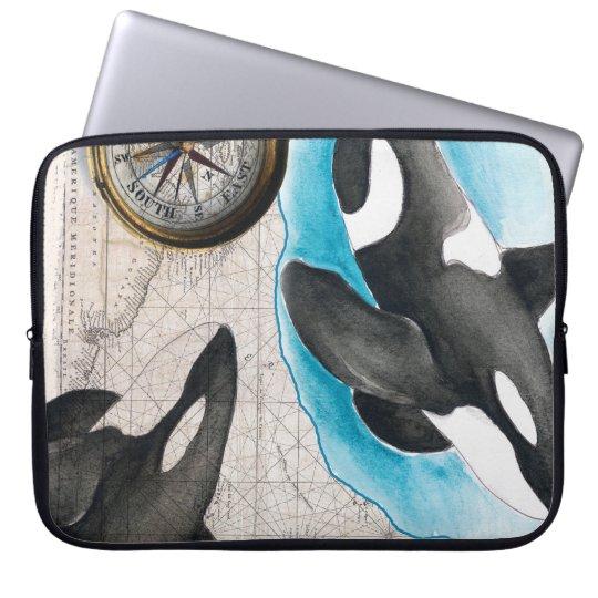 Orcas Map Laptop Computer Sleeve