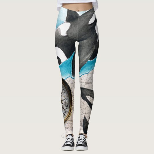 Orcas Map Leggings