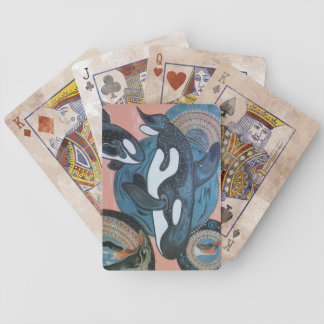 Orcas penguin bicycle playing cards