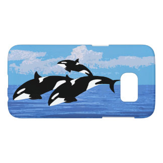 Orcas Samsung Galaxy S7, Barely There Phone Case