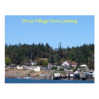 Orcas Village Ferry Landing Postcard