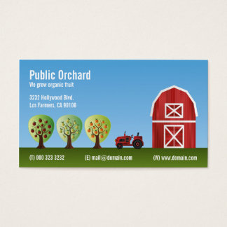 Orchard Fruit Growers Business Card
