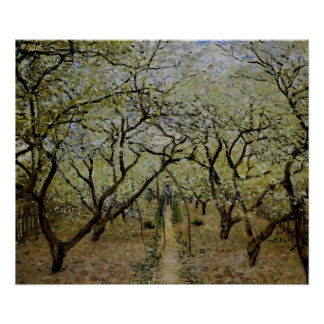 Orchard in Bloom by Claude Monet - Painting Print