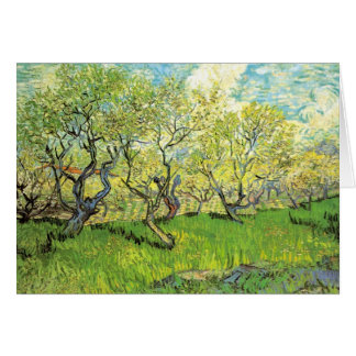 Orchard in Blossom by Vincent van Gogh Card