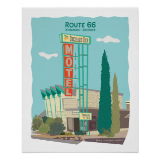 Orchard Inn Motel on Route 66 Poster