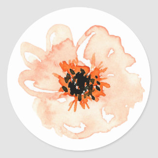 Orchard Park Single Flower Classic Round Sticker