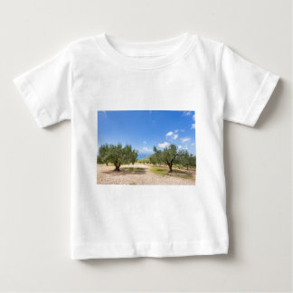 Orchard with olive trees at sea in  Greece Baby T-Shirt