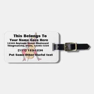 Orchestra bass player blonde female red dress.png luggage tag
