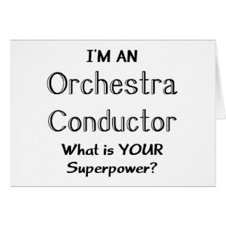 Orchestra conductor card