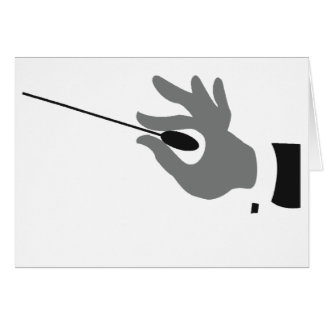 Orchestra Conductor Greeting Cards