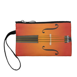 Orchestra Instrument Key Coin Clutch Change Purses