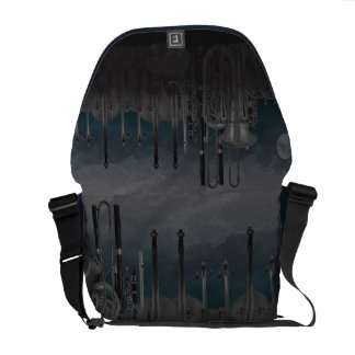 Orchestra Instrument Nighttime Skyline Courier Bags