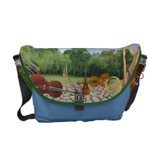 Orchestra Instruments in the Park Messenger Bags