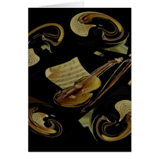 Orchestra notes – card blank for all occasions