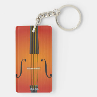 Orchestra Rectangle Double-Sided Keychain