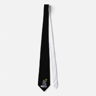 Orchestra Tuba Player Graphic, Seated Image Tie