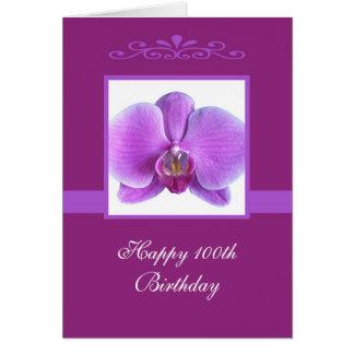 Orchid 100th Birthday Card