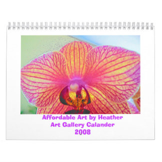 orchid, Affordable Art by HeatherArt Gallery Ca... Wall Calendars