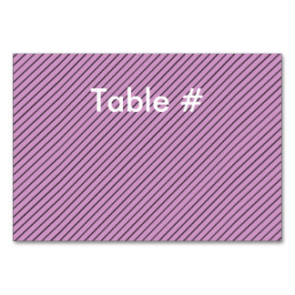 Orchid and Black Stripe Card