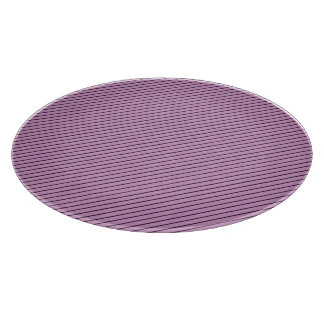 Orchid and Black Stripe Cutting Board