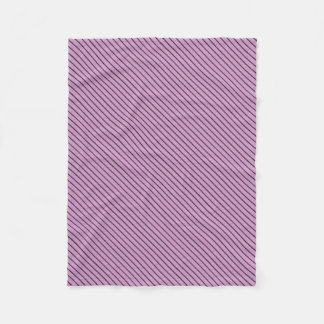 Orchid and Black Stripe Fleece Blanket