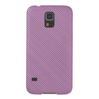 Orchid and Black Stripe Galaxy S5 Covers