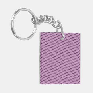 Orchid and Black Stripe Keychain