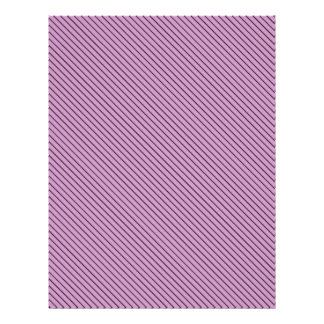 Orchid and Black Stripe Letterhead