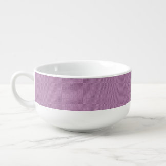 Orchid and Black Stripe Soup Mug