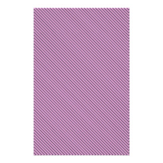 Orchid and Black Stripe Stationery