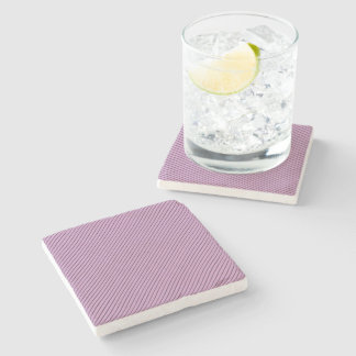 Orchid and Black Stripe Stone Coaster