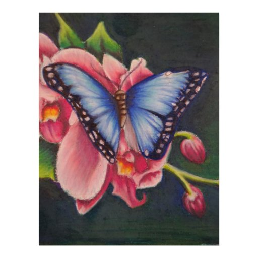 orchid and butterfly custom letterhead