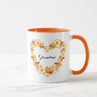 Orchid and Plumeria Flowers, Elegant I Love You Mug