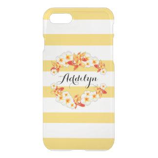 Orchid and Plumeria Flowers, Elegant iPhone 8/7 Case