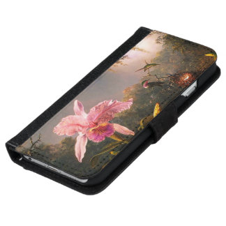 Orchid and Three Brazilian Hummingbirds iPhone 6 Wallet Case