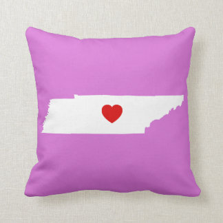 Orchid and White Tennessee with Red Heart Throw Pillow