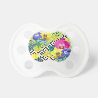 Orchid Begonia And Palm Leaves Baby Pacifiers