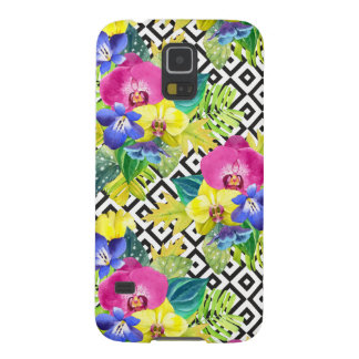 Orchid Begonia And Palm Leaves Galaxy S5 Cases