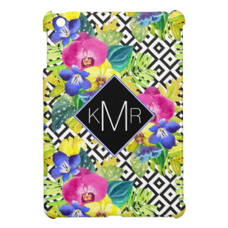 Orchid Begonia And Palm Leaves | Monogram Case For The iPad Mini