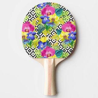 Orchid Begonia And Palm Leaves Ping-Pong Paddle