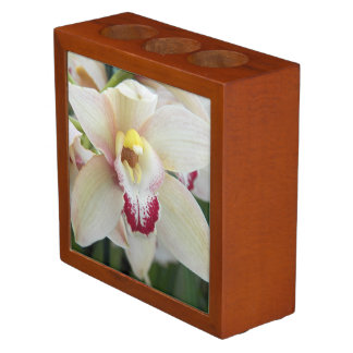 Orchid Bloom Floral Desk Organizer