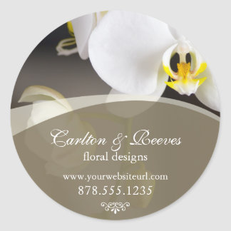 Orchid Blooms 2 Classic Round Sticker